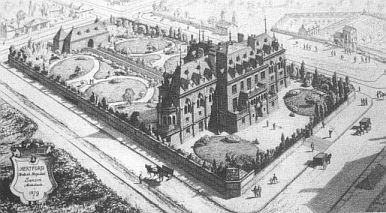 The Hertford British Hospital at its inauguration in 1879